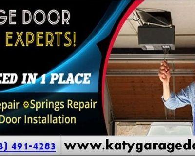 Local 1 Hrs New Garage Door Installation Repair ($25.95) 77450, TX