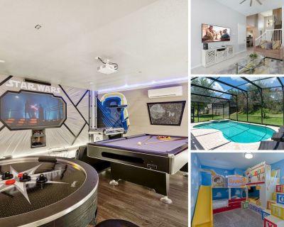 MVH_108M | Game Room, Fun Custom Kids Bedroom, Private Screen-in Pool - Windsor Hills