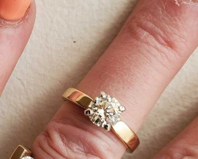 INCREDIBLE VVS1 1.00 DIAMOND SOLITAIRE ENGAGEMENT RING..SOLID 14KT APPRAISAL $15,750