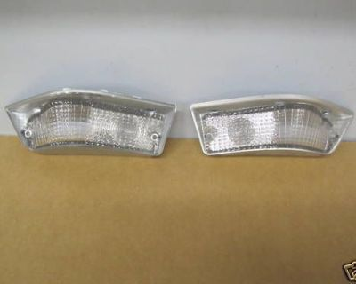 1968 Pontiac Firebird Parking Light Lamp Lenses, Pair