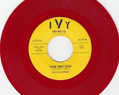 FIVE LETTERS ~ Your First Love*RARE RED WAX*M-45 !