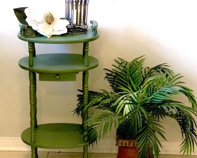 Pretty Vintage Look Table with Small Drawer 30 tall by 15 wide by 12