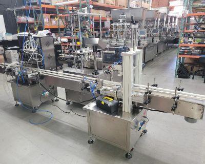 Peristaltic Filler 4x1500 Conveyor & Capper Combo