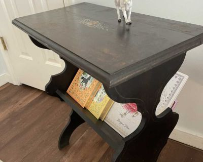 Antique side table / magazine / book table / nightstand