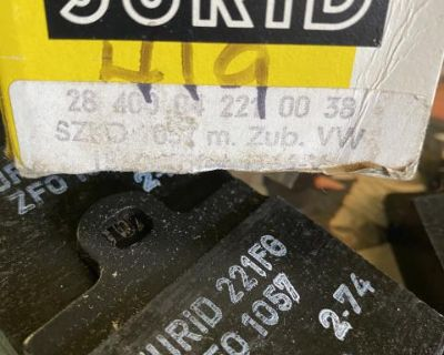 NOS Ghia Jurid Single Pin Disc Pads and Hardware
