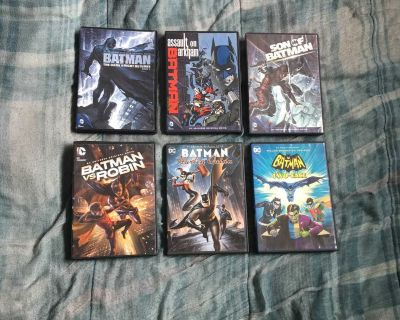 Lot Of 6 Batman Animated Movie DVDs