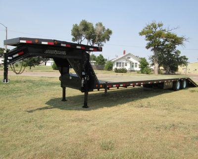 New Load Trail Gooseneck Hydraulic Dovetail LOADED OUT!