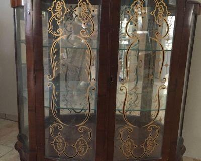 antique china or liquor cabinet