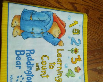 Cloth baby book Learning to Count with Puddington Bear