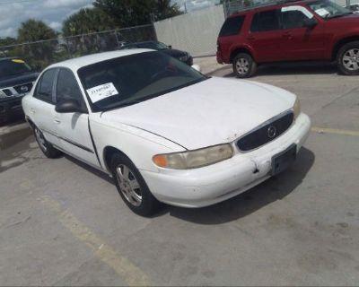 Salvage White 2004 Buick Century