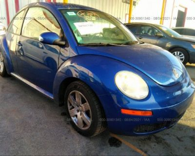 Salvage Blue 2007 Volkswagen New Beetle Coupe