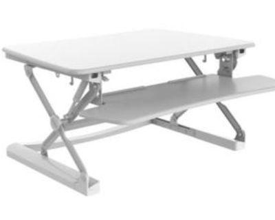 Standing desk converter + wireless ergonomic keyboard for sale