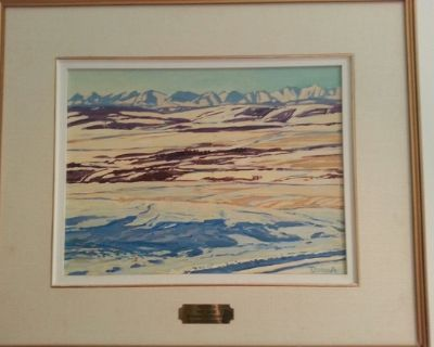 Oil painting by well known Alberta artist William Duma