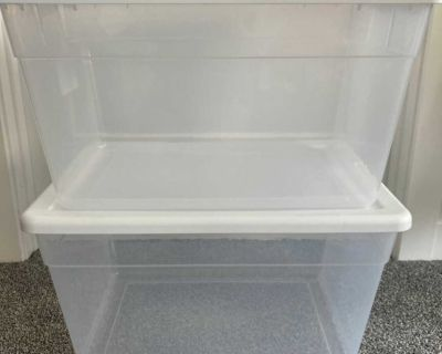 Set of 2: 56 qt storage containers