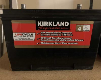 Brand new car battery