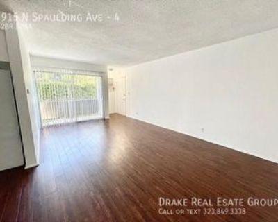 915 N Spaulding Ave #4, West Hollywood, CA 90046 2 Bedroom Apartment