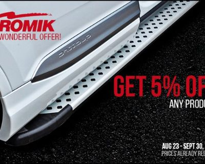 Get easy and safe truck access with Romik Running Boards + Fall Sale