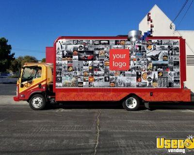 2015 - 20' Isuzu NQR Diesel Catering Food Truck w/ New Professional Kitchen