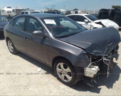 Salvage Gray 2009 Hyundai Elantra