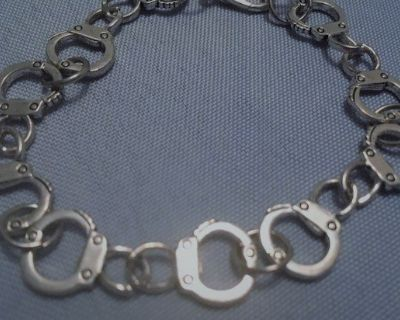 Bracelet Handcuffs Silver Guys or Gals Stainless