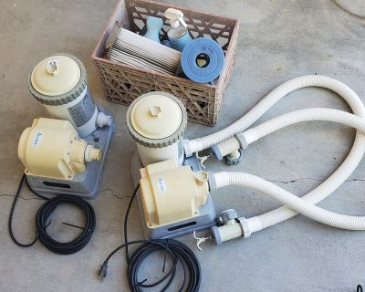 2 pool pumps/filter, above ground, Intex