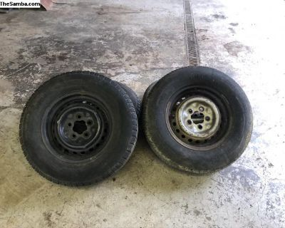 5 stock tires and steel rims