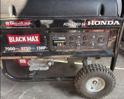 Black max Honda generator