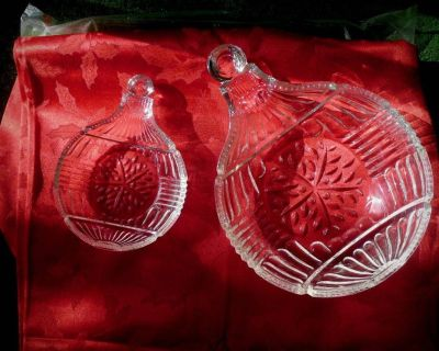 NEW Fifth Avenue 2pc. Crystal Snack Bowls