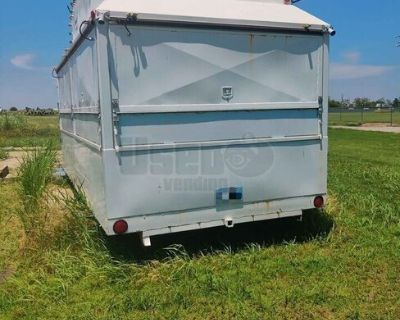 Used Carnival Style Food Concession Trailer w/ Lighted Marquee