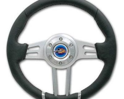 """Yamaha Rhino Pro One 12-3/4"""" Leather Steering Wheel Combo With Cover & Adapter"""