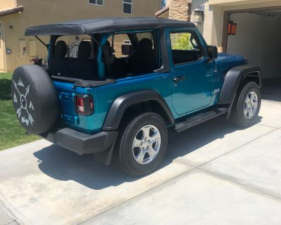 California - FOR SALE - 2020 Jeep Wrangler Sport 2dr soft top - like new