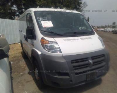 Salvage White 2016 Ram Promaster Cargo Van