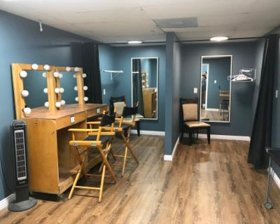 Wardrobe and Makeup Room in production studio, Burbank, CA