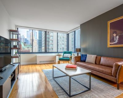Mod Midtown 1BR w/ Pool, Gym, Parking, nr. Times Square, by Blueground - Theater District