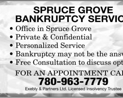 SPRUCE GROVE BANKRUPTCY SERVIC...
