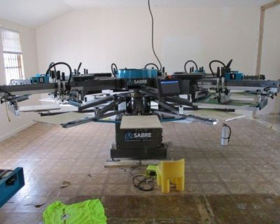 Workhorse Sabre 6 Color 8 Station Print Press RTR# 1063014-01