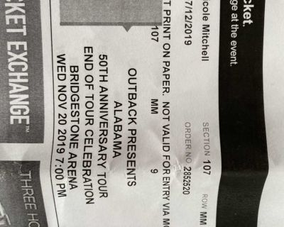 Awesome Alabama concert tickets