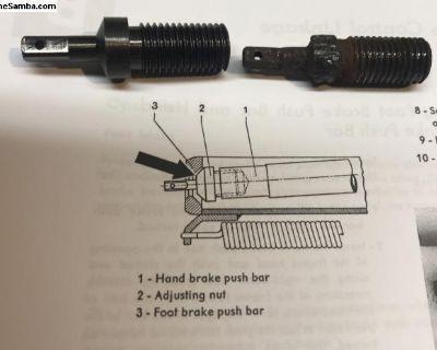 Repop split/oval -55 handbrake rod adjuster nut