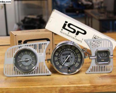 Vintage Series Beige MPH Trip Speedo Gauge Kit