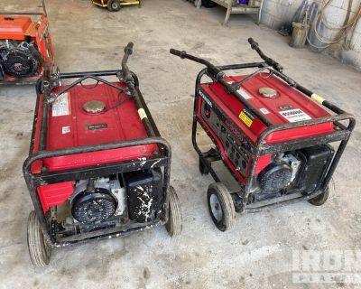 Lot of (2) Honda EB5000X 5 kVA Mobile Gen Sets