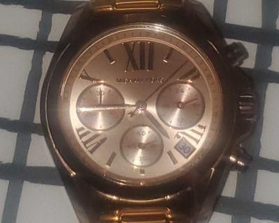 Michael Kors MK5799 Badshaw Chronograph Rose Gold Stainless Steel Women's Watch!! NEW!!