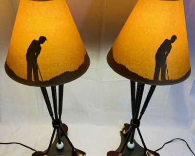 Golf Club Lights with Golfer Image When Lit.