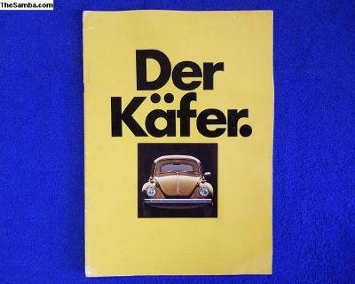 Der Kafer 1972 German Sale Brochure