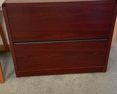 Free 2 Drawer Cherry Wood File Cabinet