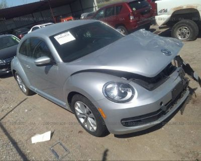 Salvage Silver 2014 Volkswagen Beetle Coupe