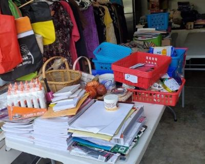YARD SALE - BACK TO SCHOOL SUPPLIES - BLOW OUT