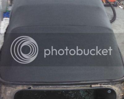 Mk 3.5 Cabrio convertible top and frame(manual) $200 obo