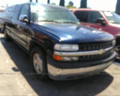 Salvage Blue 2000 Chevrolet Silverado 1500