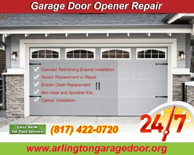 24/7 Garage Door Opener Repair and Replacement ($25.95) Arlington Dallas, 76006 TX