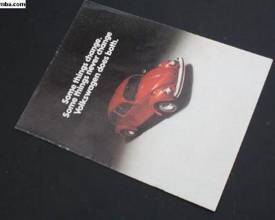 1975 Convertible Beetle Bug Book Advertisement